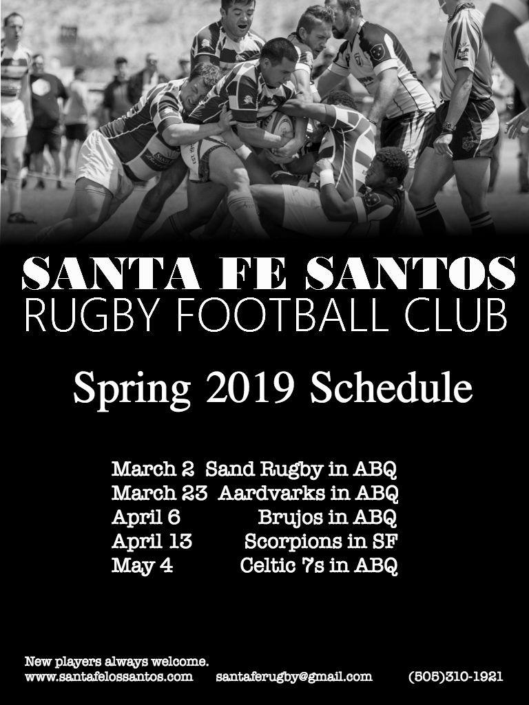Santos Schedule Spring 2019